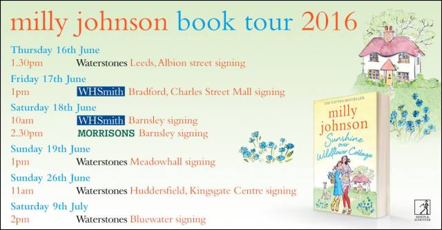 book signing tour Milly Johnson