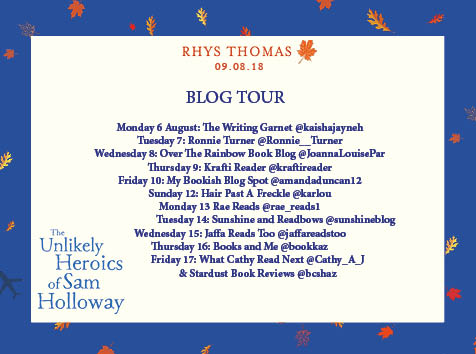 Unlikely Heroics Sam Holloway Blog Tour Poster